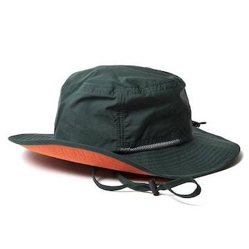 ハット 帽子 撥水 防汚 あご紐 メンズ レディース グリーン