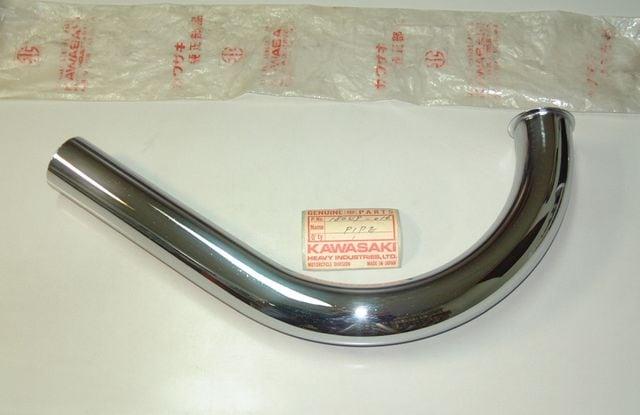 カワサキ C1 C1D 120cc エクゾースト・パイプ 絶版新品 < 自動車/バイク