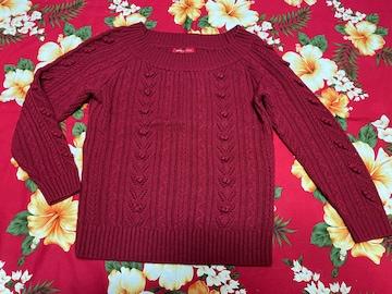 アプワイザーリッシェ☆赤セーター☆編み目めちゃかわ☆