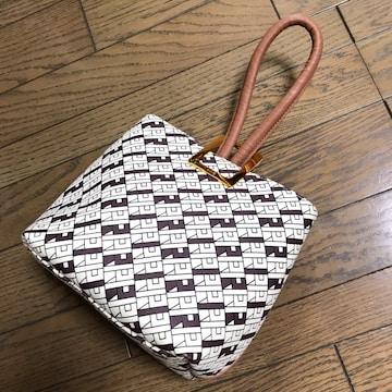 新品ロペROPE' モノグラム柄ワンハンドルバッグ鞄キャメル