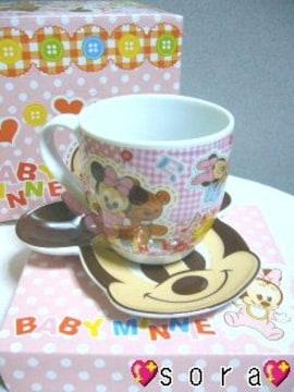ディズニー【ミニー】可愛い♪マグカップ&プレート皿 2点セット