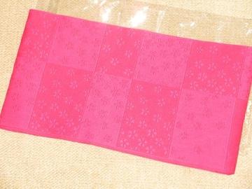 レディース用*浴衣帯*桜フラワー模様(濃ピンク)