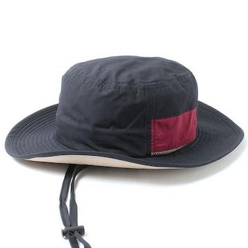 ハット 帽子 撥水 防汚 あご紐 メンズ レディース ネイビー