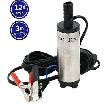 12V 小型 水中ポンプ 12L/min ケーブル 3m スイッチ式