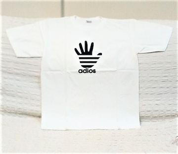 adios★おもしろTシャツ★白★L★ホワイト★コットン100★