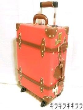 《New》旅行で大活躍★ダイヤルロック付・英国風トロッターキャリーケース<レッド>