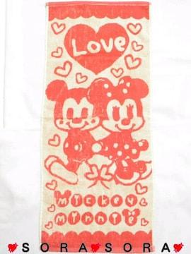 ディズニー【ミッキー&ミニー】洗面所.台所.お出掛け♪ジャガードフェイスタオル