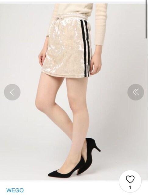 クラッシュラインベロア スカパン キュロット パンツ < 女性ファッションの