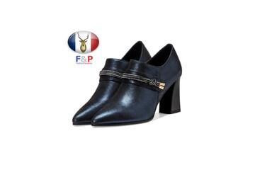 ラムレザーベルテッドシューティーブーティパンプス子羊革靴