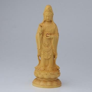 菩薩 置物 風水 木製 彫刻 観音菩薩