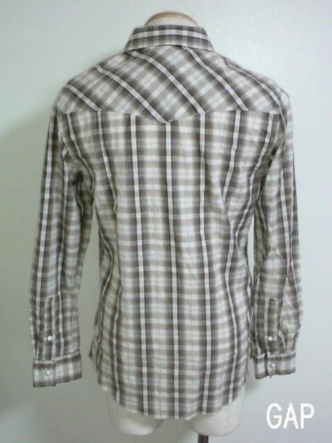 □GAP/ギャップ アメカジチェック 長袖 シャツ/メンズ・S☆新品 < ブランドの