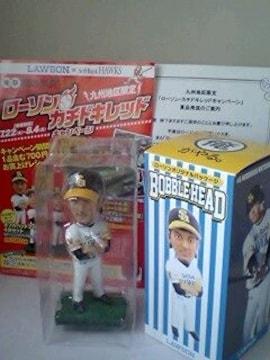 懸賞当選☆ボブルヘッドフィギュア♪松田選手☆ローソンオリジナルパッケージ♪