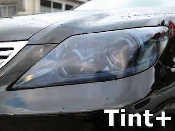Tint+何度も貼れるLS460/LS600h USF40前期ヘッドライト スモークフィルム