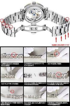 腕時計 メンズ 自動巻き 究極のスケルトン 夜光 ゴールド