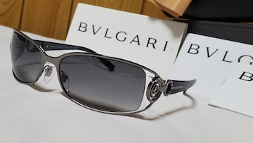 正規新古レア ガクト着 ブルガリ アストラーレサングラス 黒×クロームメタリック 同型同色