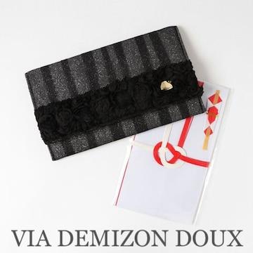 定価2,376円【新品】薔薇バラモチーフ袱紗ふくさ Blackブラック
