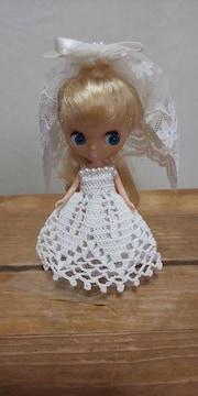 プチブライスレース編みウエディングドレス