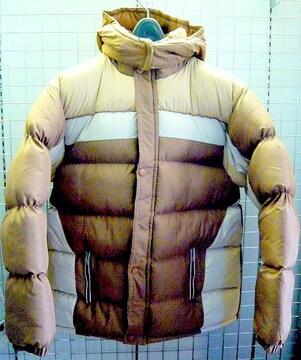 送料無料 新品中綿ジャケット XL ブラウン/ホワイト