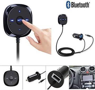 Bluetooth レシーバー 車載用 3.5mm AUX-in ブルートゥース ワ