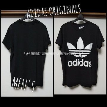 adidas originals プリントビックロゴ  Tシャツ 黒