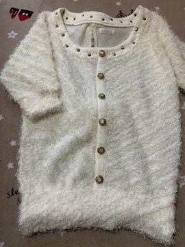 H031/リズリサ/ホワイト/ニット/トップス/