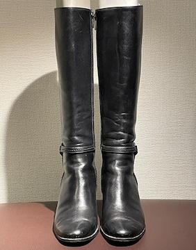 ◆良品《REGAL/リーガル》レザーブーツ 黒 22.5cm◆