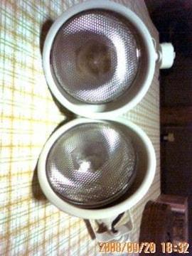 スポットライト♪2コ ビームランプ