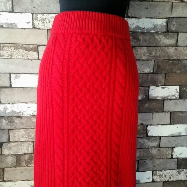 赤 ニットスカート ユナイテッドアローズ < ブランドの