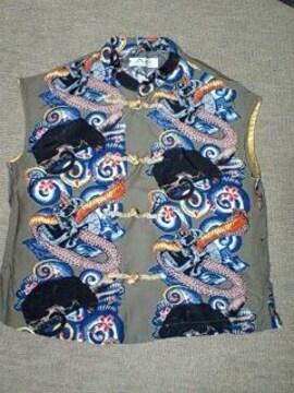 ヒスグラ和柄アロハなシャツ.ベスト.スカル未使用ヴィンテージ