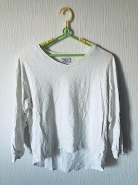 Tシャツ カットソー Vネック インナー シャツ レディース