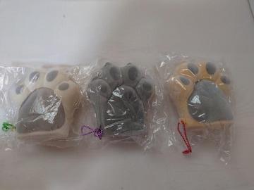 未開封 肉球 ニャンコスクイーズ ストラップセット