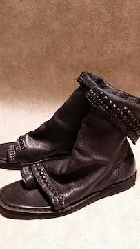 新品KMRIIケムリ BLACK METAL BOOTS SANDAL 2