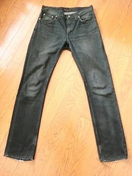 ヌーディージーンズ シンフィン THIN FINN イタリア製 スリム スキニー ブラック デニム W31
