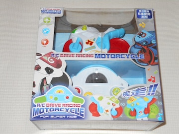 R/C DRIVE RACING MOTORCYCLE FOR SUPER KIDS ホワイト