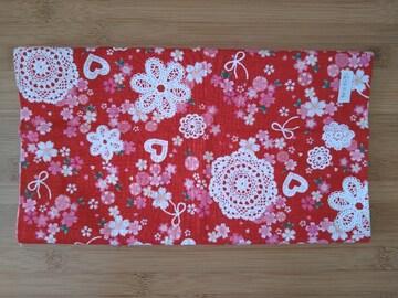 花柄 布地(はぎれ)幅50×46�a