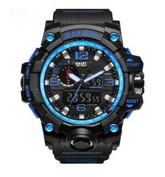 SMAEL 1545 スポーツウォッチ(ブラック・ブルー)
