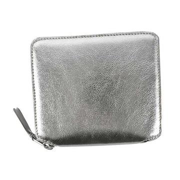 ◆新品本物◆コムデギャルソン SILVER 2つ折財布(BK)『SA2100G』◆
