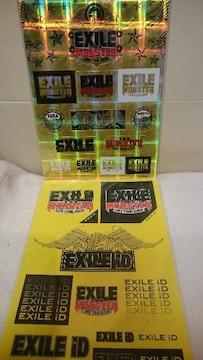 未開封 貴重!EXILE ライブツアー2009 モンスター ステッカー(シール) 2種類セット!