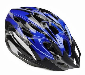 自転車用 サイクリング ヘルメット ブルー&ブラック