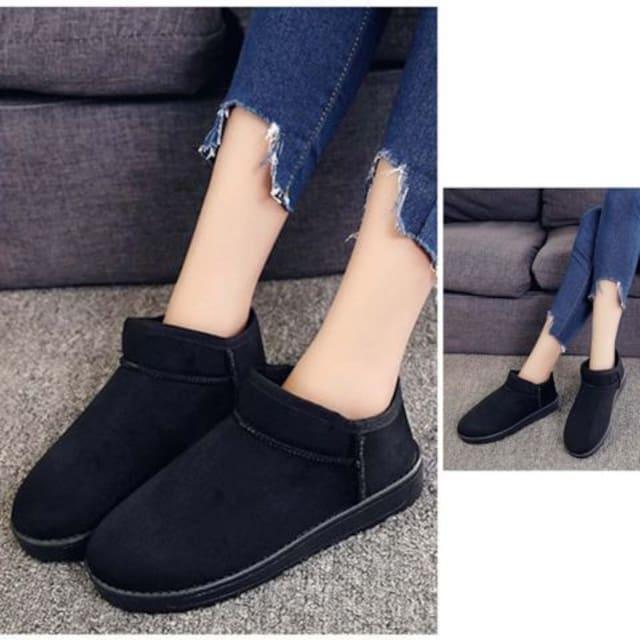 ムートンブーツ レディース  ショートブーツ 痛くない 疲れない靴 ブーティー < 女性ファッションの
