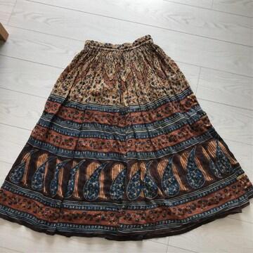 春夏物ロングスカートFサイズ アジアン インド製ロンスカ