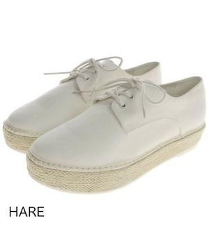☆HARE/ハレ ジュートソール スニーカー/メンズ/27cm/白☆新品