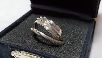正規 ジゴロウ×セイントトゥルーパー ゴシック ナローフェザーリング 11号 2連 SV指輪