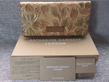 レアモデル新品箱付◆キャサリンハムネット【ローザ】花柄 牛革長財布¥18360