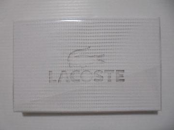 LACOSTE ラコステタオルハンカチ綿100%ホワイト新品未使用未開封
