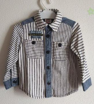 90★JUNK STORE★ストライプシャツ★美品
