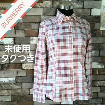 チェックシャツ 白 赤 ピンク BURBERRY 長袖