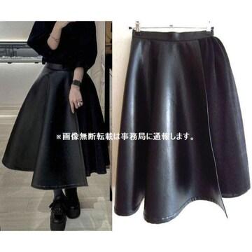 20SS noir kei ninomiya フェイクレザー プリーツ スカート