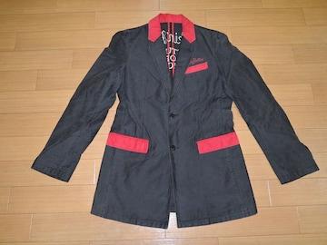 ワコマリアWACKO MARIAテーラードジャケットM黒ステッチ刺繍