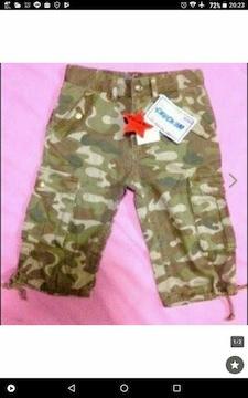 新品☆150cm迷彩パンツ☆chu-chum迷彩パンツ